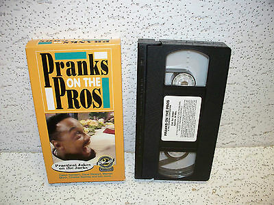Pranks On The Pros VHS Video Out Print Charles Barkley Warren Moon