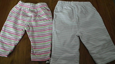 2 Pairs of Girls Trousers from George 0-3 months
