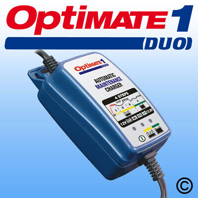 OptiMate 1 DUO 12V std lead acid + lithium automatic maintenance charger - UK