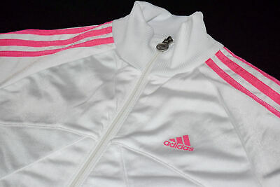 Adidas Trainings Jacke Sport Jacket Track Top Casual Weiß Rosa Pink Kids 164 Y L