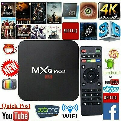 Smart TV Box 2019 MXQ PRO 4K QuadCore WiFi KODI 3D Media Player Android 7.1 AU
