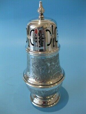 Beautiful Antique Mappin & Webb Silver Plate Georgian Style Sugar Shaker Caster