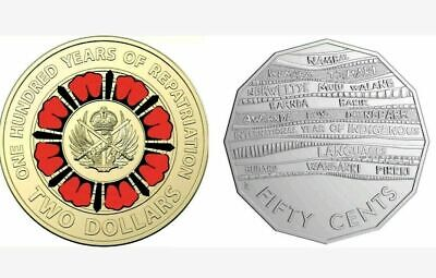 2019 RAM UNC $2 - 100 Years of Repatriation & 50c - Indigenous Languages coins