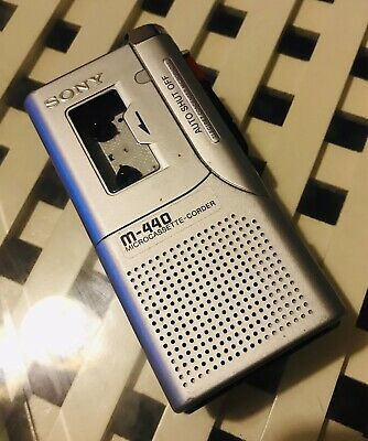 Sony M-440 Microcassette-Corder (dictaphone)