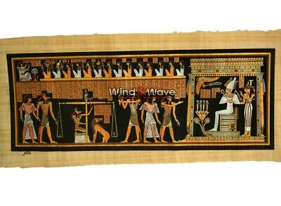 Lovely Handmade Ancient Egyptian The final judgment papyrus 90*30 cm