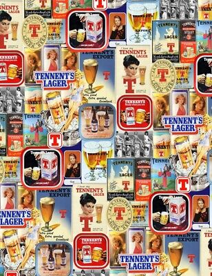 Vintage Retro Tennents Lager Advertising Bar Pub Shed Garage Man Cave Metal Sign