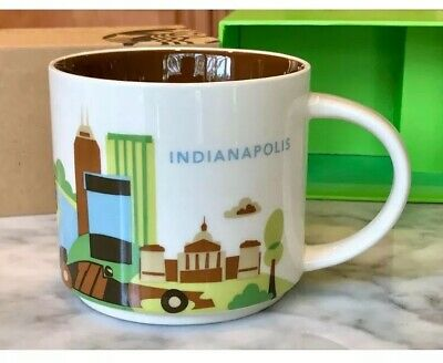 "Starbucks Indianapolis IN City Cup Mug ""You Are Here"" YAH Collection 14 Oz 2014"