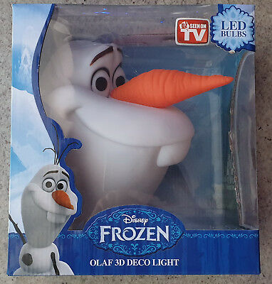 DISNEY Olaf 3D  Deco Light LED Luce