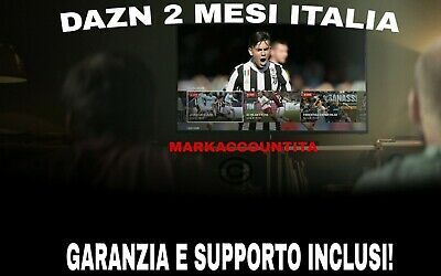 Account Dazn 2 Mesi Italia Con Garanzia!😎 *Consegna Immediata* *Disponibile*