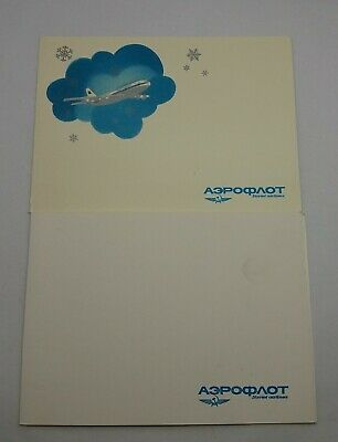 POSTCARD Happy NEW YEAR soviet airlines AEROFLOT Greeting VINTAGE USSR RUSSIAN