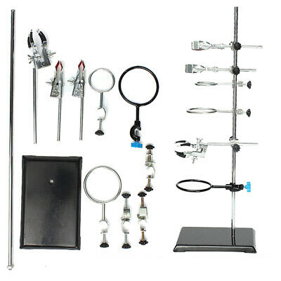 60cm Height Laboratory Iron Stand Support Flask Condenser Clamp Clip Set