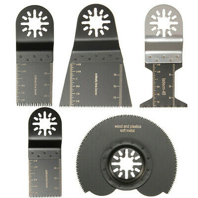 5pcs Mix Saw Blades Oscillating Multitool For Parkside Workzone Einhell Challeng