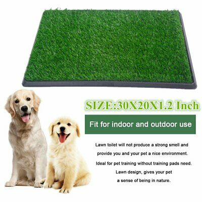 "30"" Pet Puppy Training Pad Grass Potty Toilet Patch Mat In/Outdoor Dog Pee Tray"