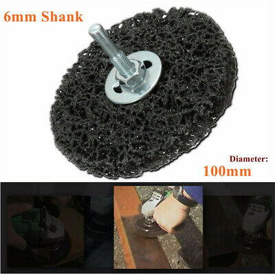100mm Rust And Paint Removal Polycarbide Abrasive Stripping Disc 6mm Shank Wheel