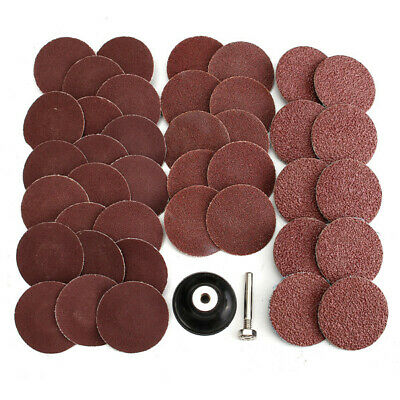 40pcs 2 Inch Roll Lock Sanding Disc 40/80/120/240 Grit Abrasive Tool With Mandre