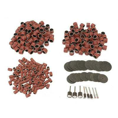 326pcs 80Grit Drum Sanding Kit With Resin Cutting Wheel Disc And Mandrels