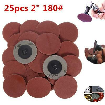 25pcs 2 Inch 180 Grit Roll Lock Sanding Discs R-Type Abrasive Tool