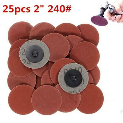 25pcs 2 Inch 240 Grit R-Type Roll Lock Sanding Discs Abrasive Tool