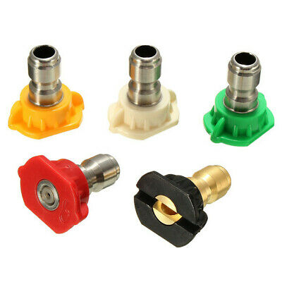 5pcs 3.5 GPM Spray Nozzles Tips High Pressure Washer Rotating Turbo Nozzle For W