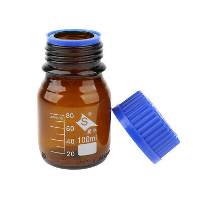 Graduated Reagent Bottle 100 250 500 1000ml for Lab with Screw Cover Cap