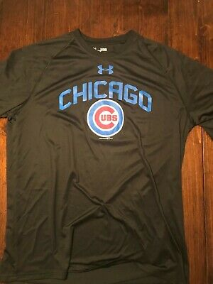 2204799b Official Under Armour black Chicago Cubs t-shirt extra large xl t shirt tee