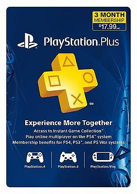 PSN 1 Month PlayStation PSs Plus PS4-PS3 -Vita ( NO CODE )