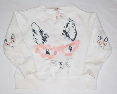 GIRL'S NEXT 4 Yrs OLD CAT SWEAT SHIRT VGC