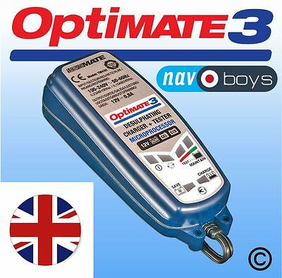 OPTIMATE 3 12V battery saving charger, tester + maintainer - UK