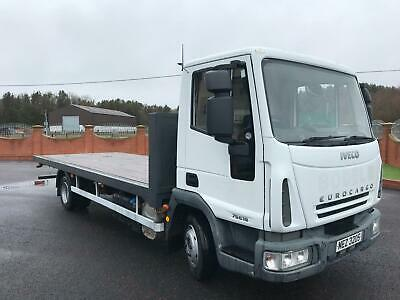 2007 IVECO EUROCARGO 75E18 20ft FLAT BED TRUCK