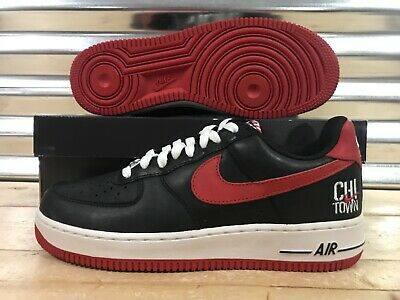 c646a1c48b1a Nike Air Force 1 Low Retro Chi Town Chicago Black Red Bred SZ ( 845053-