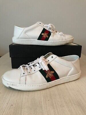 9f015c032f3 GUCCI WOMENS SNEAKERS shoes ACE bee Size 39.5 39 1 2 9.5 9 1 2 With ...