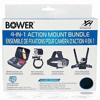 Bower Xtreme Action Series 4-in-1 Action Mount Bundle for GoPro - Model XAS-AMB