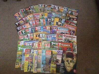 metal detecting 104 treasure hunting  and searcher magazines  job lot £20