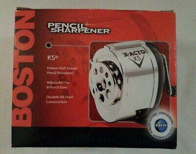 NEW Pencil Sharpener Boston Manual Deluxe  Wall Mount X-Acto KS Model