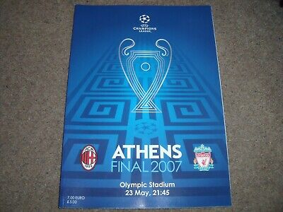 2007 Uefa Champions League Final Ac Milan V Liverpool Programme *Mint* 23Rd May