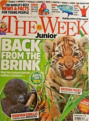 The Week Junior Magazine 20 April 2019 # 175 = Earth Day 2019 = Tigers= Gorillas