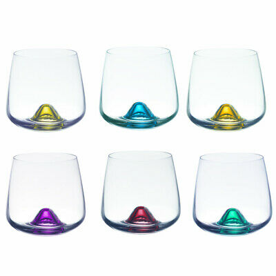 TABLE PASSION - COFFRET DE 6 VERRES ISLANDS 31CL FOND COULEUR ASSORTISCristallin