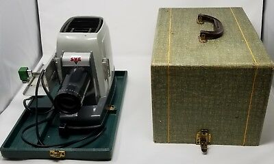 VINTAGE ANTIQUE SVE Miniature SLIDE PROJECTOR WITH CASE 35mm