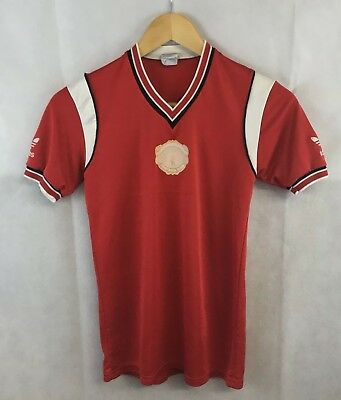 Manchester United Home Football Shirt 1984/86 Adults Small Adidas