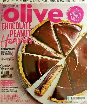 Olive Magazine April 2019 = Chocolate Peanut Heaven = 10-Minute Tacos