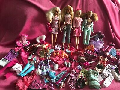 💖Barbie bundle of older style dolls with clothes and accessories!!💖