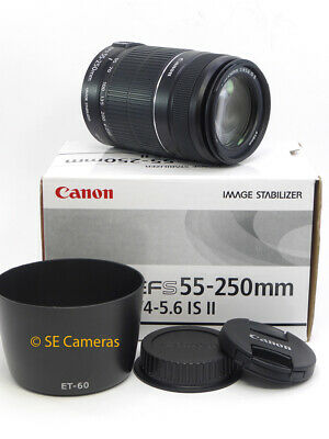 Canon Ef-S 55-250Mm F4-5.6 Is Ii Zoom Lens **mint Condition**