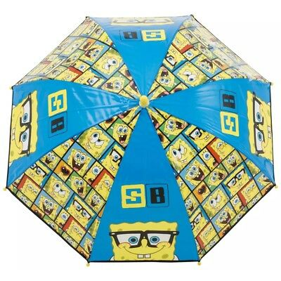 SPONGEBOB Bubble Umbrella Brolly / ANTI-PINCH/ WIPE CLEAN MATERIAL L64CM/W71CM