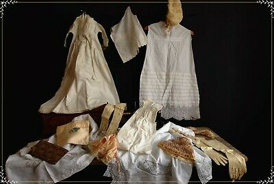 Collection Of Antique Linen And Clothing For Salvage, Crafts