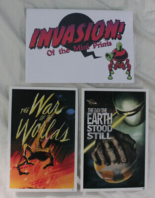 War of the Worlds & The Day The Earth Stood Still - Mini Prints - Loot Crate
