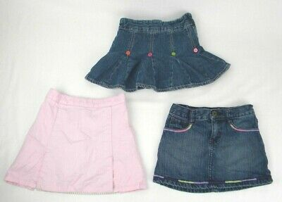 d0fe3b6885 3PCS Lot Tommy Hilfiger, Crazy 8, Gymboree Skirts/ Skorts Toddler Girl's Sz  4T