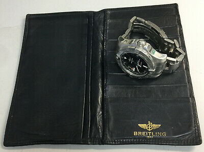 Breitling Watch leather wallet vintage Extremely Scarce