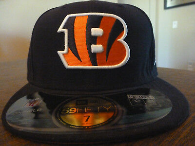 promo code 93e74 ca6db CINCINNATI BENGALS NEW ERA 59FIFTY NFL ON FIELD SIDELINE BLACK FITTED HAT  Sz 7