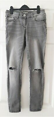 VGC Girls NEXT light grey distressed jeans size 12 Years