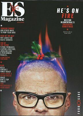 HESTON BLUMENTHAL interview ES food issue  LONDON ONLY christmas